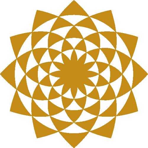 Gold Kaleidoscope Pattern